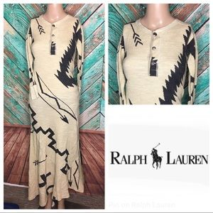 Cotton Ralph Lauren Native American Print Dress